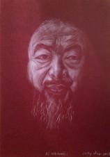 portrait de l'artiste Chinois Ai Wei Wei.
