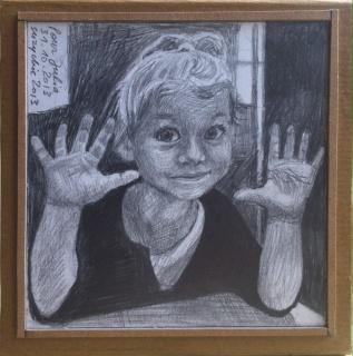 Portrait d'une petite magicienne.